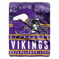 Minnesota Vikings Silk Touch Stacked Blanket