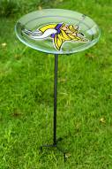Minnesota Vikings Staked Bird Bath