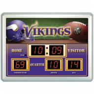 Minnesota Vikings Thermometer Scoreboard Clock