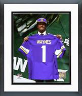 Minnesota Vikings Trae Waynes 2015 NFL Draft #11 Pick Framed Photo