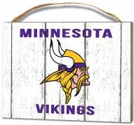Minnesota Vikings Weathered Logo Small Plaque