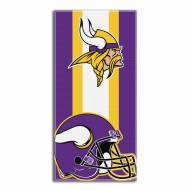 Minnesota Vikings Zone Read Beach Towel