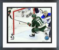 Minnesota Wild Zach Parise 2014-15 Playoff Action Framed Photo