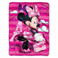 Minnie Mouse Travel in Style Micro Raschel Throw Blanket