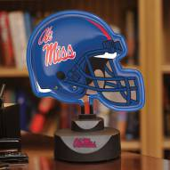 Mississippi Ole Miss Rebels Neon Helmet Desk Lamp