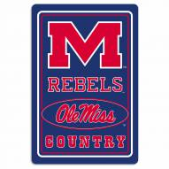 "Mississippi Rebels 12"" x 18"" Metal Sign"