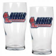 Mississippi Rebels 20 oz. Pub Glass - Set of 2