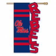 "Mississippi Rebels 28"" x 44"" Applique Flag"