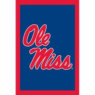"Mississippi Rebels 28"" x 44"" Double Sided Applique Flag"
