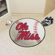 Mississippi Rebels Baseball Rug
