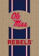 Mississippi Rebels Burlap Flag