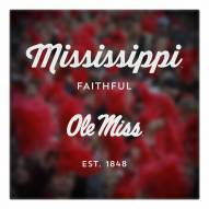 Mississippi Rebels Canvas Logo Art