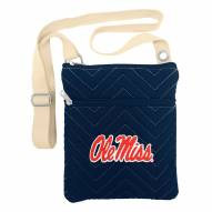 Mississippi Rebels Chevron Stitch Crossbody Bag