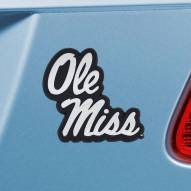 Mississippi Rebels Chrome Metal Car Emblem