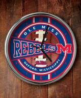 Mississippi Rebels Chrome Wall Clock