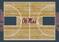 Mississippi Rebels College Home Court Area Rug