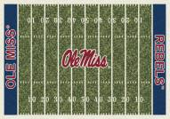 Mississippi Rebels College Home Field Area Rug
