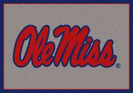 Mississippi Rebels College Team Spirit Area Rug