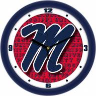 Mississippi Rebels Dimension Wall Clock