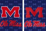 Mississippi Rebels Double Sided Glitter Flag