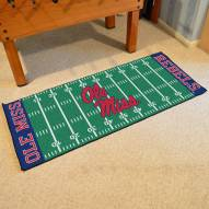 Mississippi Rebels Football Field Runner Rug
