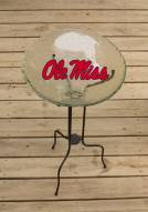 Mississippi Rebels Glass Bird Bath