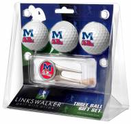 Mississippi Rebels Golf Ball Gift Pack with Cap Tool