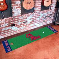 Mississippi Rebels Golf Putting Green Mat