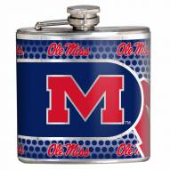 Mississippi Rebels Hi-Def Stainless Steel Flask