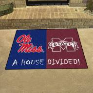 Mississippi Rebels/Mississippi State Bulldogs House Divided Mat