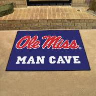 Mississippi Rebels Man Cave All-Star Rug