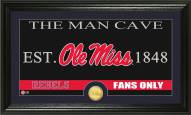 Mississippi Rebels Man Cave Bronze Coin Panoramic Photo Mint