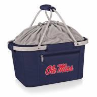 Mississippi Rebels Navy Metro Picnic Basket