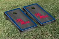 Mississippi Rebels Onyx Stained Border Cornhole Game Set