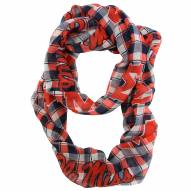 Mississippi Rebels Plaid Sheer Infinity Scarf