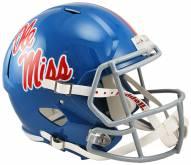 Mississippi Rebels Riddell Speed Replica Powder Blue Football Helmet