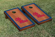 Mississippi Rebels Rosewood Stained Border Cornhole Game Set