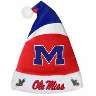 Mississippi Rebels Santa Hat