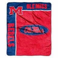 Mississippi Rebels School Spirit Raschel Throw Blanket