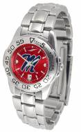 Mississippi Rebels Sport Steel AnoChrome Women's Watch