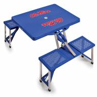 Mississippi Rebels Sports Folding Picnic Table