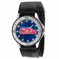 Mississippi Rebels Veteran Velcro Mens Watch