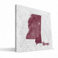 """Mississippi State Bulldogs 12"""""""" x 12"""""""" Home Canvas Print"""