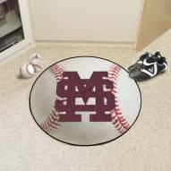 Mississippi State Bulldogs Baseball Rug