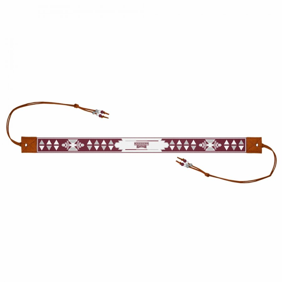 Mississippi State Bulldogs Beaded Headwrap