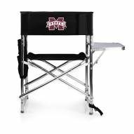 Mississippi State Bulldogs Black Sports Folding Chair