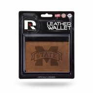 Mississippi State Bulldogs Brown Leather Trifold Wallet