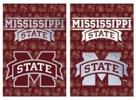 Mississippi State Bulldogs Double Sided Glitter Garden Flag