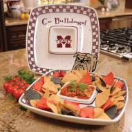 Mississippi State Bulldogs Gameday Chip N Dip Dish