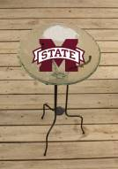 Mississippi State Bulldogs Glass Bird Bath